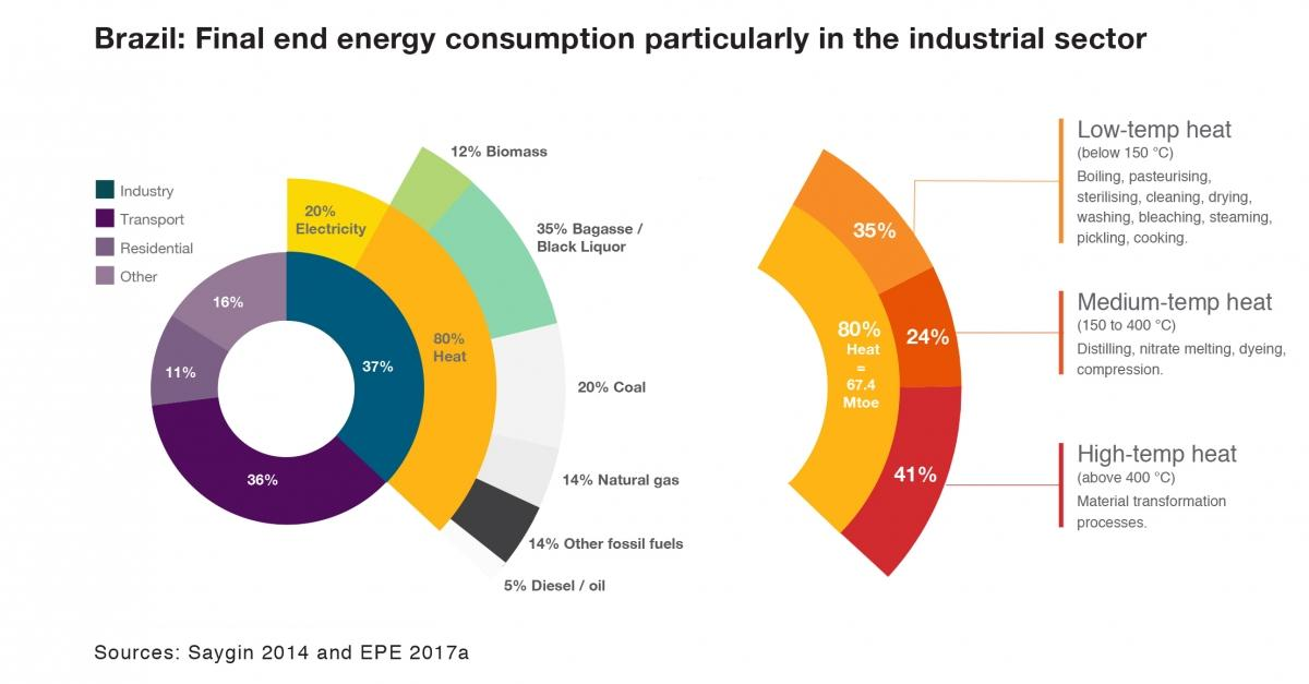 Brazil: Final end energy consumtion particularly in the industrial sector (english)